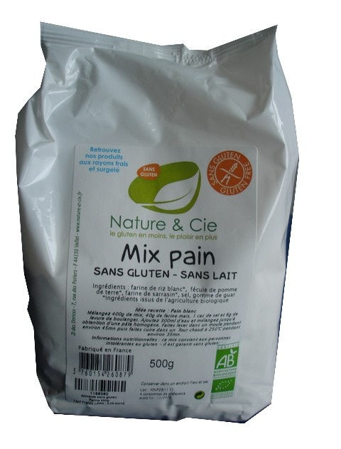 Nature & Cie, Mix Pain Sans Gluten 500g